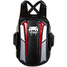 Venum Elite Skintex Leather Body Protector - Black/Ice/Red