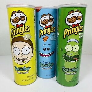 Rick an Morty Limited Edition Morty Meeseeks Pickle Rick Pringles Chips Set of 3