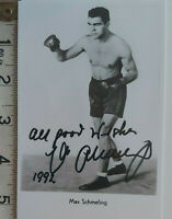 WINTER SALE MAX SCHMELING HAND SIGNED PHOTOCARD  & COA - OFFERS ACCEPTED