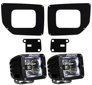 Rigid Radiance LED Fog Light Kit White Backlight for 15-19 GMC Sierra 2500 3500