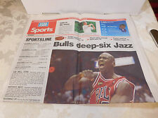 June 1998 USA Today Sports Section Only - Michael Jordan - Bulls deep-siz Jazz