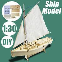 1:30 Ship Assembly Model DIY Kits Wooden Sailing Boat Decoration Wood Kits Toy