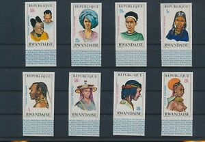 LO15931 Rwanda imperf traditional hairstyles fine lot MNH
