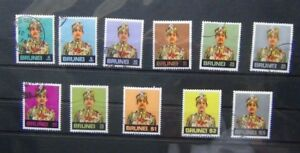 Brunei 1975 values to $5 Used