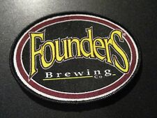 FOUNDERS BREWING CO Oval Logo PATCH label craft beer brewery KBS Dirty Bastard