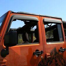 Rugged Ridge Window Visor Matte Black 07-17 Jeep 4-Door Wrangler Jku  X11349.12