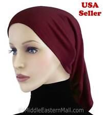 Lady Inner Tube Hijab Cap #6 Maroon Islamic Underscarf Headwear -Hijab Hats