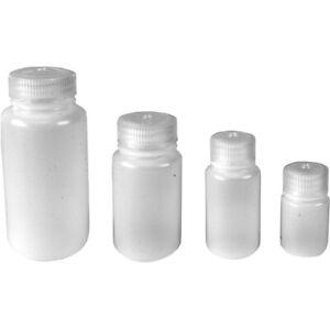 Nalgene HDPE Plastic Wide Mouth Storage Bottle - Clear