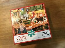Buffalo Jigsaw Puzzle Cats 750 Pieces Kitten Kitchen Capers Complete Excellent