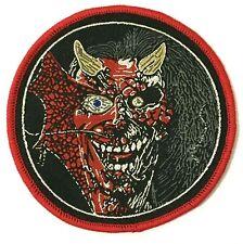 IRON MAIDEN - Eddie - Round Woven Patch Red Edging Purgatory Rare Aufnäher