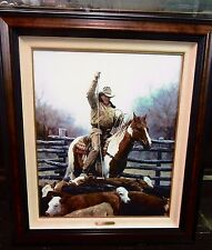 "Martin Grelle ""The Expert"" Canvas Beautifully Framed S/N 38/95 MasterGraphics"