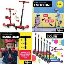 Lascoota 2-In-1 Kick Scooter With Removable Seat Great For Kids Toddlers Girls