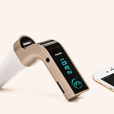 Lcd Bluetooth Car Kit Mp3 Player Fm Transmitter Usb Charger For iPhone Samsung U