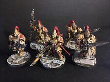 5x Adeptus Custodes Custodian Guard COMMISSION Warhammer 40k 30k Temple Bases