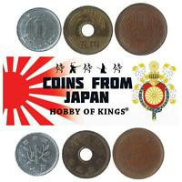 3 DIFFERENT COINS FROM JAPAN. ASIAN MONEY 1 - 10 YEN. OLD COLLECTIBLE CURRENCY