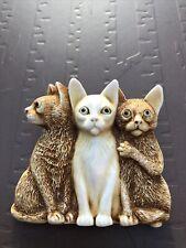 Harmony Kingdom Cat Pin Three Cats Royal Watch Collector's Club Peter Calvesbert