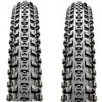 "2Pcs Maxxis Crossmark MTB Tyres 26/27.5/29"" Black Mountain Bike Tire Non-Folding"