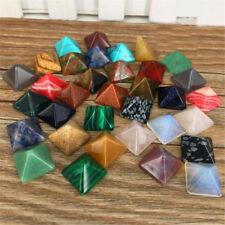 7PCS/Set Chakra Pyramid Stone Set Crystal Healing Wicca Natural Spirituality New