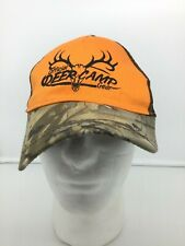 Official Deer Camp Gear Real Tree Mesh Snap Back Camo and Orange hat NWT