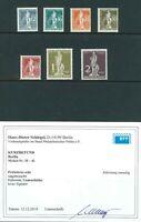 Berlin - Mi-Nr. 35-41 * mit Originalgummierung - Befund H-D. Schlegel BPP