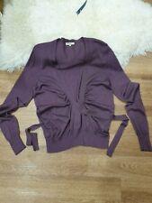 ETRO Cardigan Sweater Cashmere Silk Purple Size 46