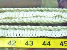 """5 yards ECRU MINT CONSO 1/4"""" 2 ply 097052 LIP CORD CORDING UPHOLSTERY CRAFTS"""