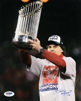TONY LARUSSA SIGNED AUTOGRAPHED 8x10 PHOTO ST. LOUIS CARDINALS PSA/DNA
