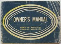 Honda 50 and 65 Models C50, C65 1968 Motorcycle Owners Handbook