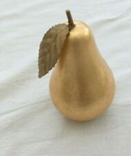 Large Deluxe Glossy Gold Pear Christmas Table Decoration Metal NEW  JC252