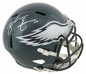 Eagles Zach Ertz Authentic Signed Green Full Size Speed Rep Helmet BAS