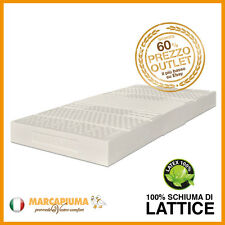 MATERASSO LATTICE SINGOLO 80x190 18 cm 100% Lattex 7 zone Rivestimento Aloe vera