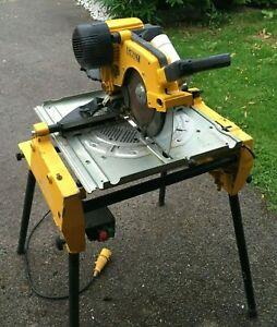 Dewalt  DW 742 110v mitre flip over saw, combination site saw