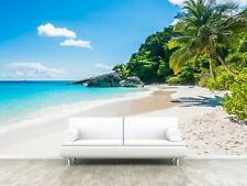 Beach Tropical Tree Sea Ocean Photo Wallpaper Wall Mural Home Bedroom Decoration