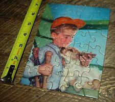 VINTAGE TUCO CHILDRENS MINIATURE PUZZLES x 2