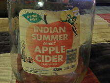 Indian Summer Sweet Apple Cider (1Gal.) Glass Growler Bottle (Evansville, Ind.)