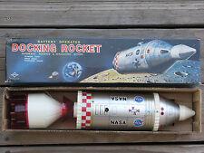 """RARE ~ Vintage 1969 DOCKING ROCKET NASA 17"""" Spacecraft Tin Toy JAPAN Daiya WORKS"""