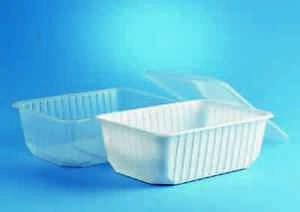 Feinkostbecher Salatbecher PP mit Deckel rechteckig Multi NEU