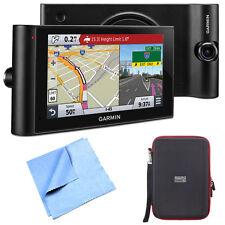 "Garmin dezlCam LMTHD 6"" GPS Truck Navigator Hardshell Case and Cloth Bundle"