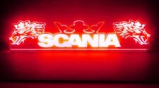 24V Cabin Interior Light LED Plate for Scania Crown Griffins Sign (Red 500mm)