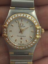 Omega Constellation  18 K & SS Diamond  Factory Bezel Lady 6553/865