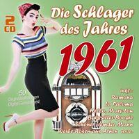 DIE SCHLAGER DES JAHRES 1961 2 CD NEU