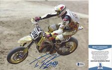Travis Pastrana Signed Motox Photo *Beckett Coa* Authentic Autograph