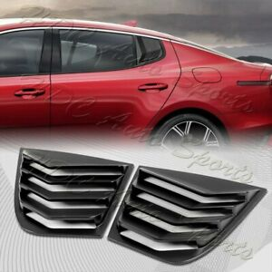 For 2018-2022 Kia Stinger ABS Black Side Window Louvers Scoop Cover Vent 2pcs