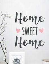 "Wandtattoo Schriftzug ""home sweet home"" Farbe individualisierbar"