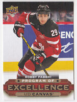 15-16 Upper Deck Robby Fabbri UD Canvas SP Program Of Excellence 2015