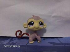 Littlest Pet Shop Brown Monkey with Purple Eyes