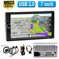 "7"" 2Din Autoradio Mit GPS Navigation Bluetooth Mp5 Player Touchscreen USB/TF EU"