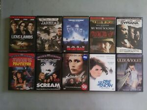 'LOT OF 10 ASSORTED  DVD'S'  -  Action, war &  thrillers