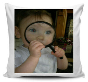 Personalised Any message & Any Picture Cushion includes filling 40cm x 40cm