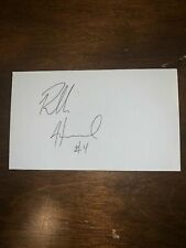 ROBBIE HUMMEL - BASKETBALL - AUTOGRAPH SIGNED - INDEX CARD -AUTHENTIC - C1012